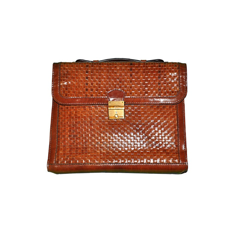 Salambo (Italy) woven leather soft briefcase 1
