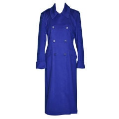 Guy Laroche Blue double-breasted wool coat