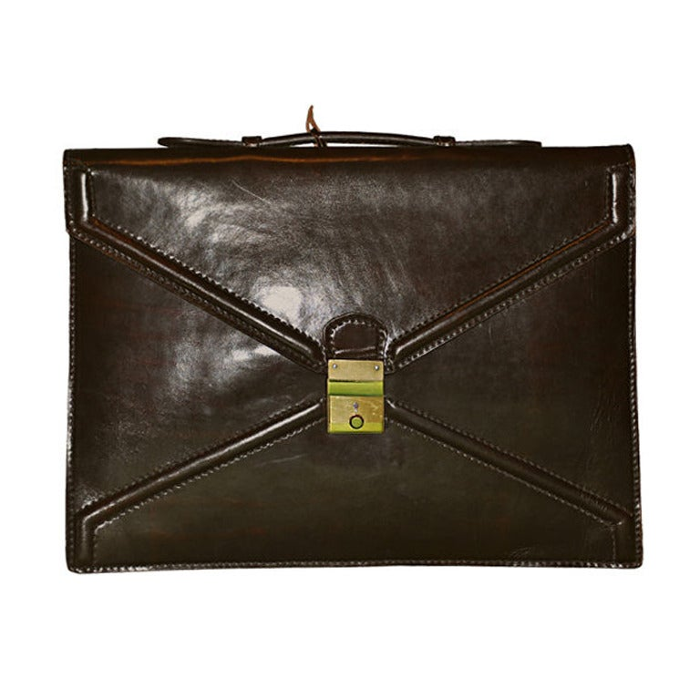 Salambo (Italy) Brown leather briefcase