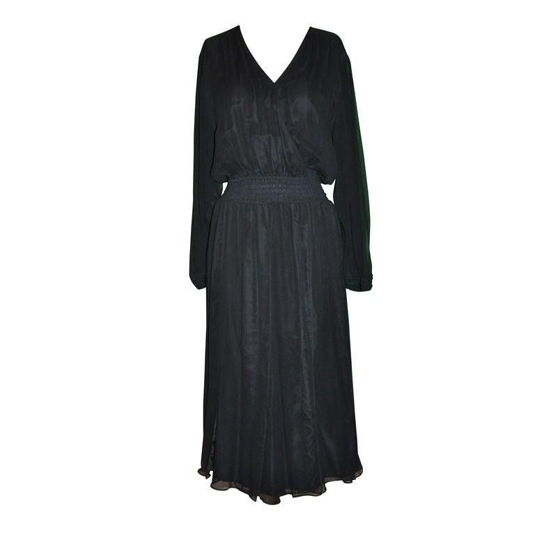 Diane Fres Black chiffon cocktail dress