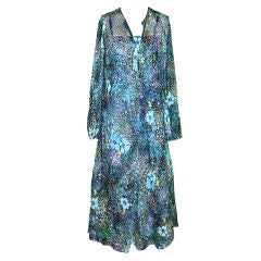 Pauline Trigere multi-colored two-piece Caftan set