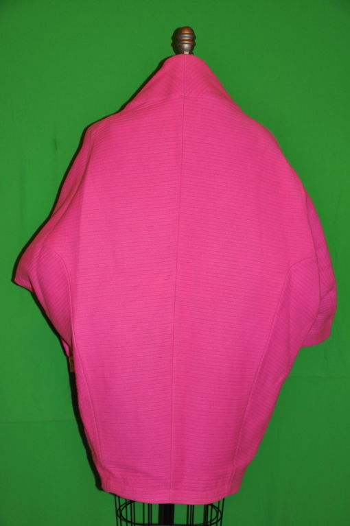 Rare Iconic Thierry Mugler quilted Fuchsia wool with velvet coat 3