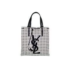Yves Saint Lauren Rive Gauche canvas with leather detailing tote