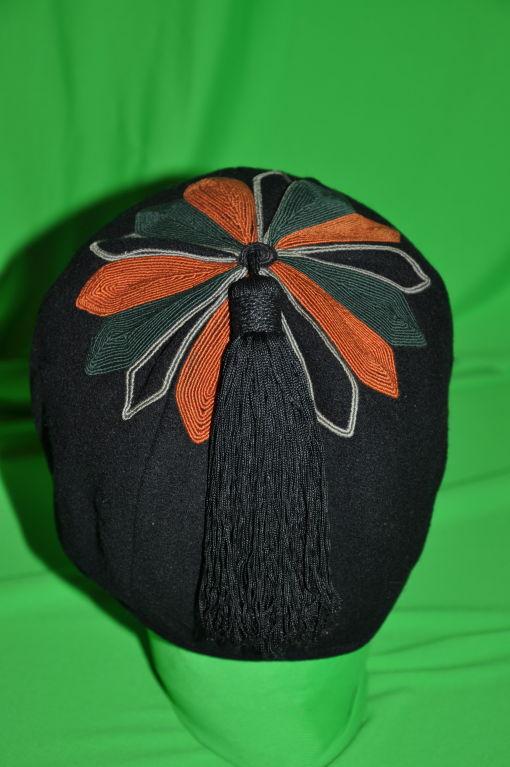 5772236c441 Yves Saint Laurent Rive Gauche wool skull cap with tassel at 1stdibs