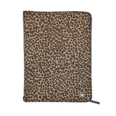 Bottega Veneta leopard print agenda with leather trim