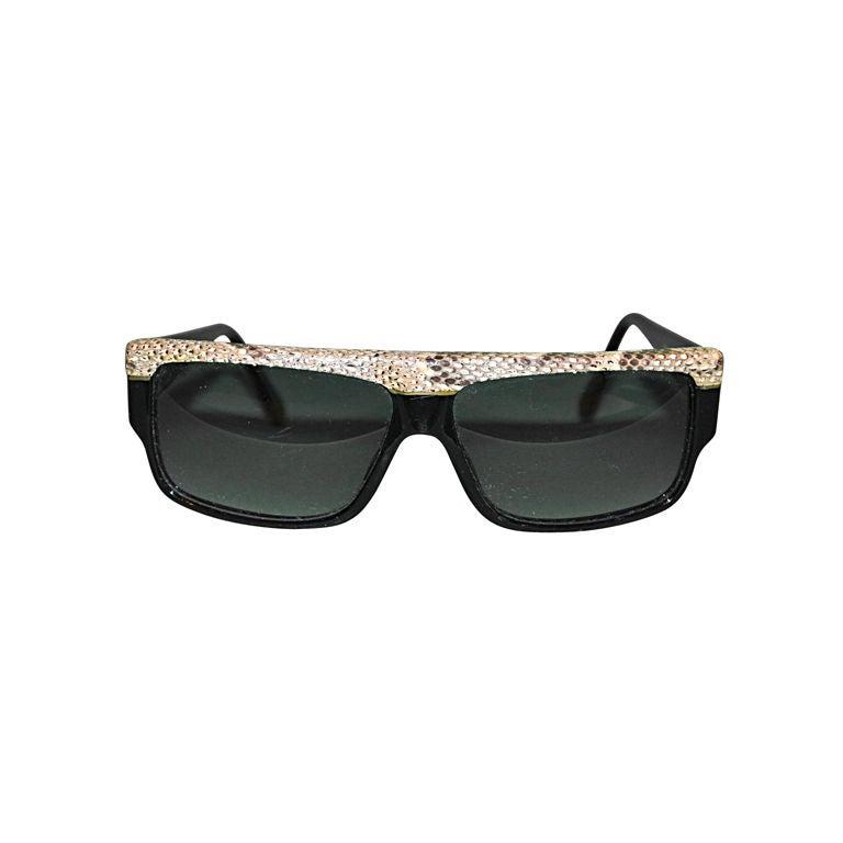 884933cb933 Emmanuelle Khanh snake detail sunglasses at 1stdibs