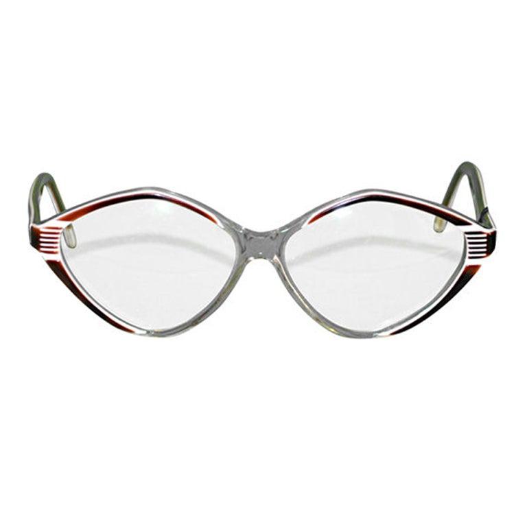 Balenciaga clear with tortoise shell eyeglasses
