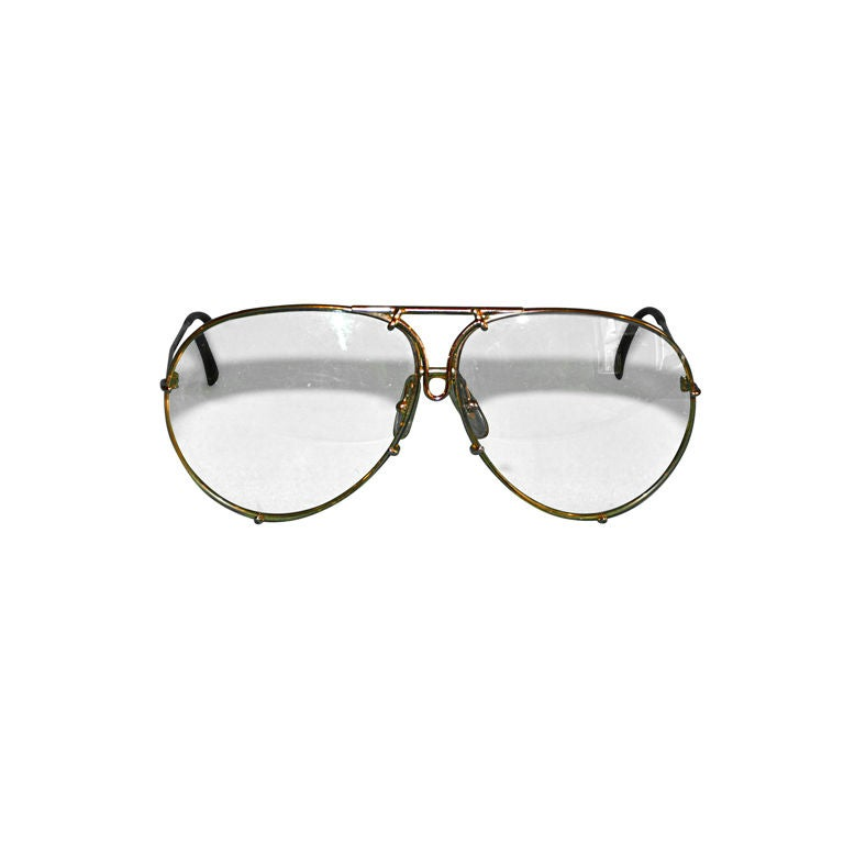 Carrera Porsche 18k gold frames glasses For Sale at 1stdibs