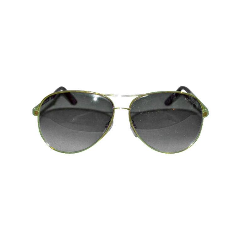Tom Ford gold metal frame sunglasses at 1stdibs