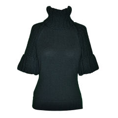 Fendi Black wool turtleneck sweater