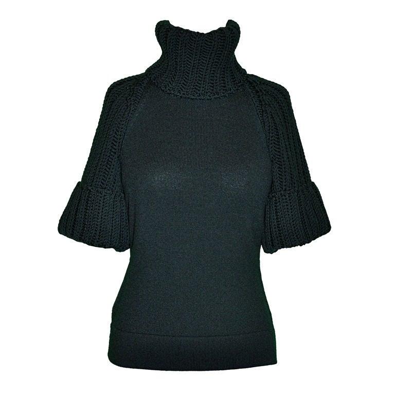 Fendi Black wool turtleneck sweater 1
