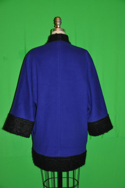 Pierre Balmain Cobalt Blue with Persian Lamb coat 3