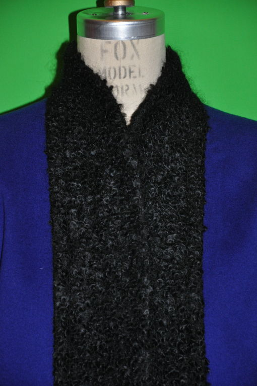 Pierre Balmain Cobalt Blue with Persian Lamb coat 4