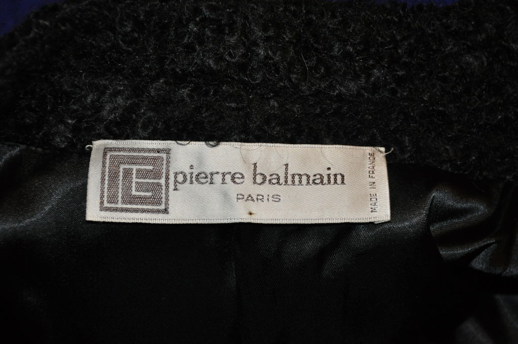 Pierre Balmain Cobalt Blue with Persian Lamb coat 5