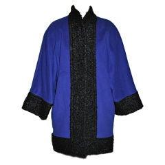 Pierre Balmain Cobalt Blue with Persian Lamb coat