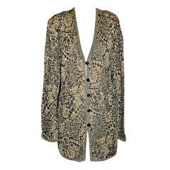 Missoni black & gold metallic cardigan