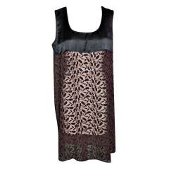 Jean Paul Gaultier black & brown embroidered dress
