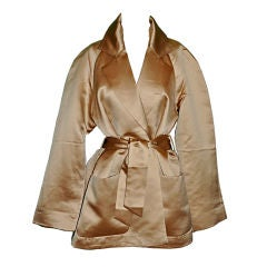 Ports International gold silk-satin evening wrap