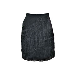 Jane McCartney black fringed skirt