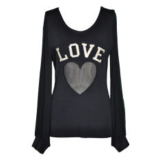 "Moschino back wool ""Love"" Top"