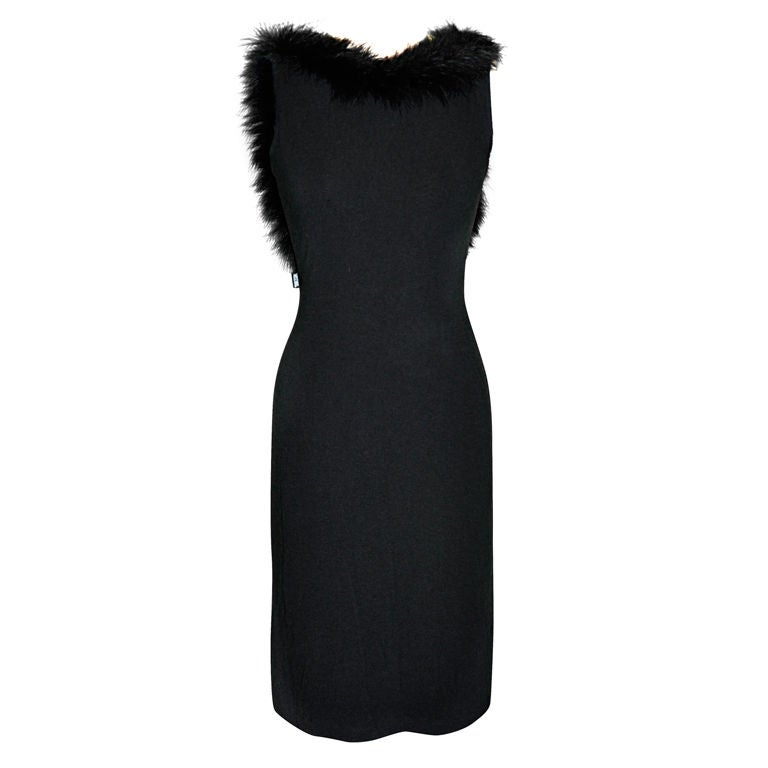 Moschino black spandex dress
