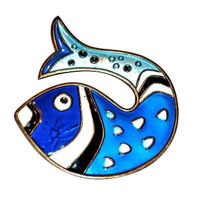 David-Anderson Enamel Fish Brooch
