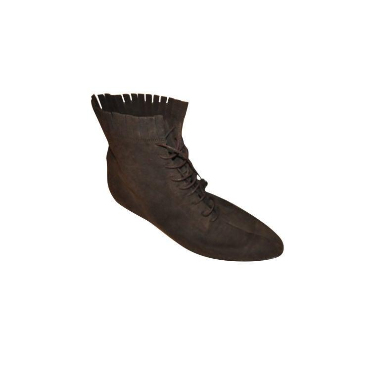 Ferragamo Coco brown suede ankle boots