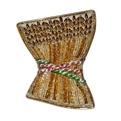 "Extremely Rare Lesage ""Corn Crops"" Brooch"