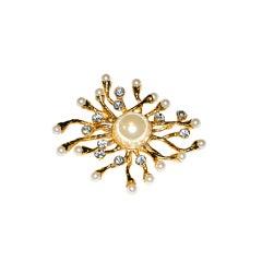 """Huge """"Starburst"""" Pearl with Crystal brooch"""