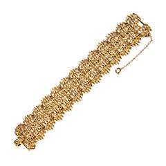 Gilded gold with Swarovski crystals embellishment bracelet