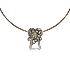 "Tiffany & Co. Zodiac sign ""Aries"" sterling choker"