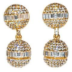 Christian Dior rhinestone earclips