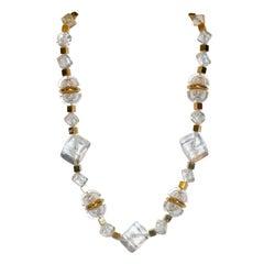 Napier Gold & Lucite Necklace