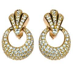 Christian Dior rhinestone clip-on earrings