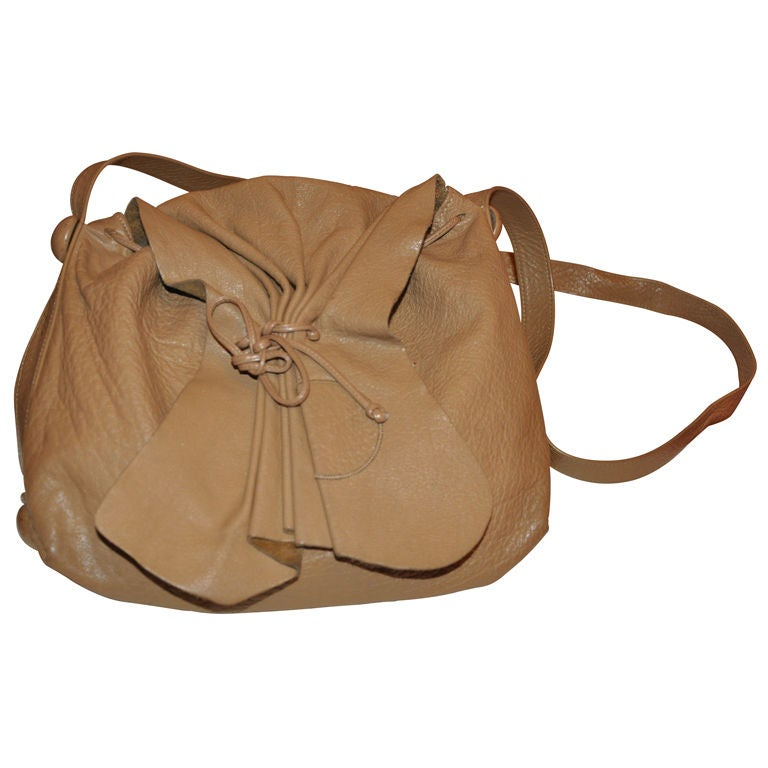 Carlos Falchi '80s large hobo shoulder bag For Sale