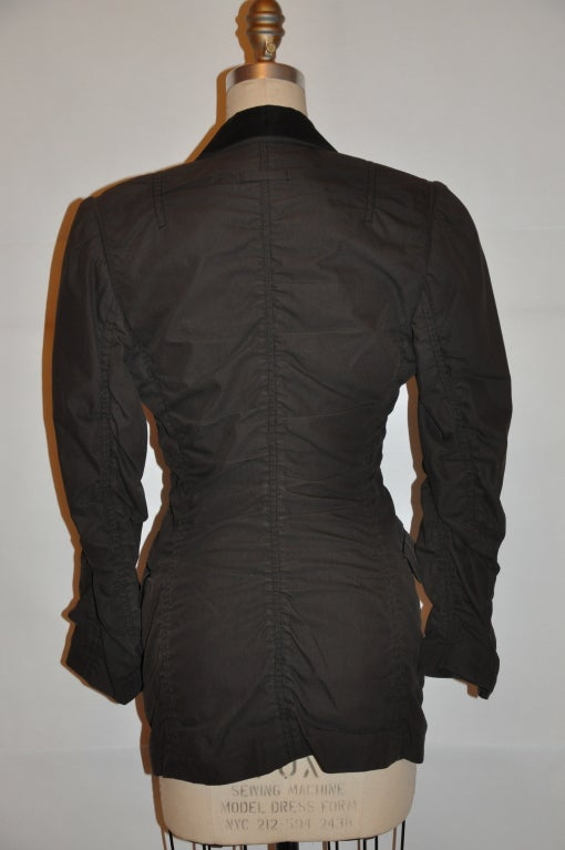 Jean Paul Gaultier shirring detail jacket 3