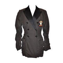 Jean Paul Gaultier shirring detail jacket