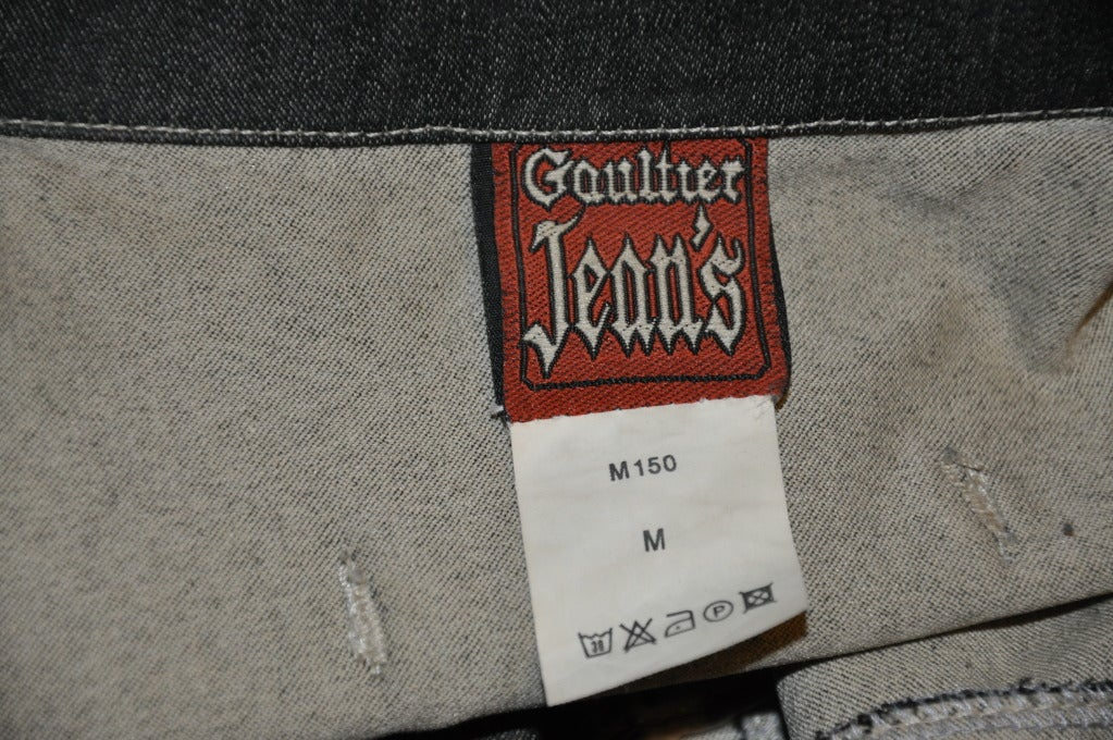 "Jean Paul Gaultier denim ""Safety Pin"" vest 5"