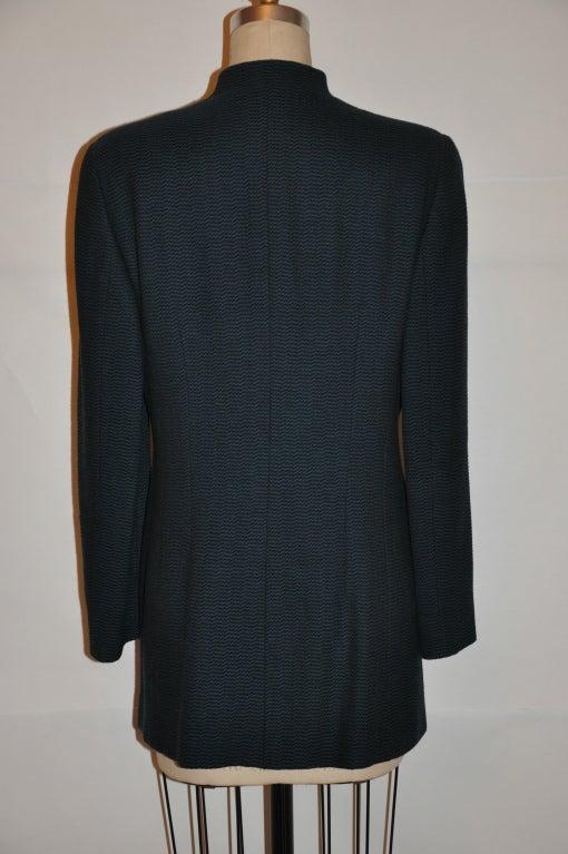 Women's Giorgio Armani Black & forest green jacket For Sale