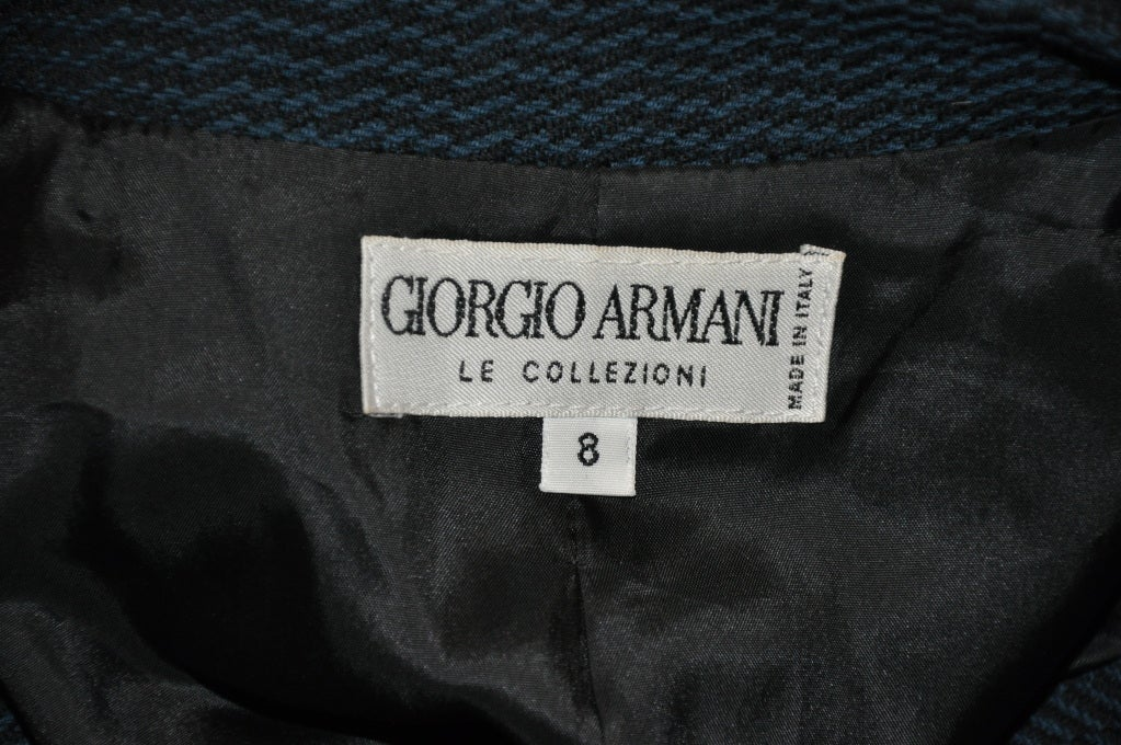 Giorgio Armani Black & forest green jacket 4