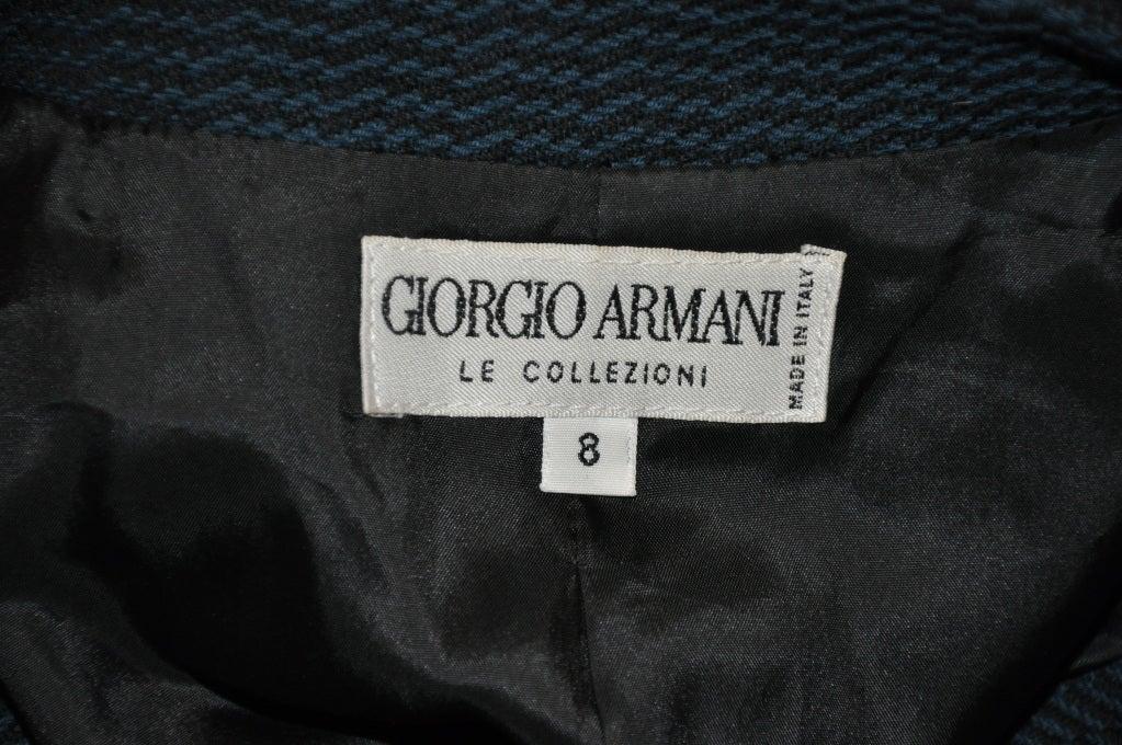 Giorgio Armani Black & forest green jacket For Sale 1