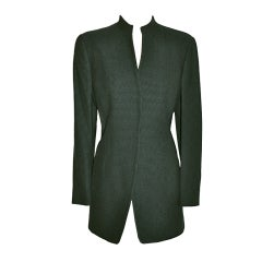 Giorgio Armani Black & forest green jacket