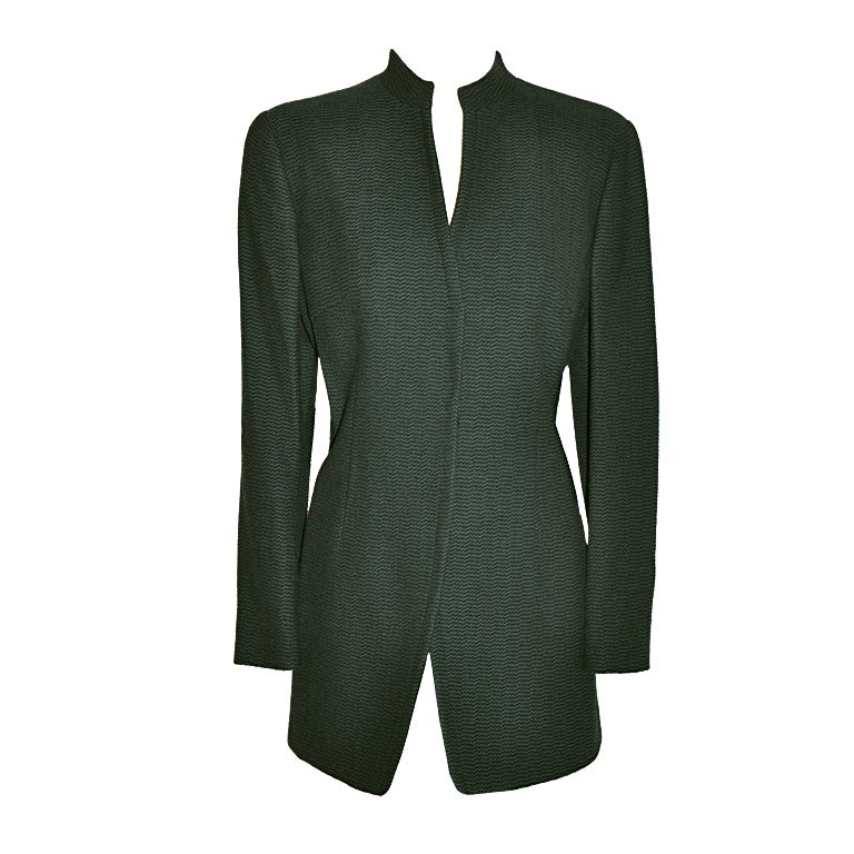 Giorgio Armani Black & forest green jacket For Sale
