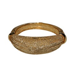 Signed Boucher gilded gold bracelet