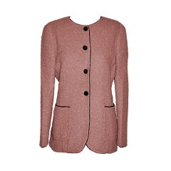 Fendi  pink bouche wool jacket