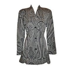 Alma Black & White Paisey print jacket