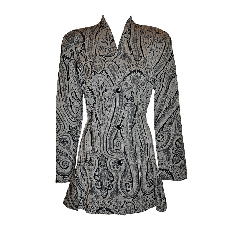 Alma Black & White Paisey print jacket