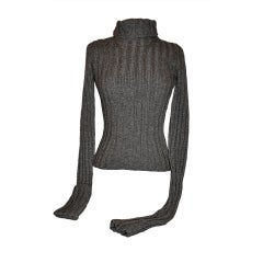 Ann Demeulemeester charcoal turtleneck