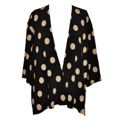 Gianfranco Ferre black & white silk polka-dot jacket