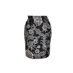 Emanuel Ungaro Black & White floral skirt